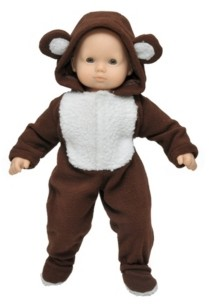 """The Queen's Treasures 15"""" Baby Doll Clothes, Bitty Bear Sleeper Pajama Romper Onesie"""