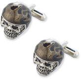 Jan Leslie Moto Skull Cuff Links, Black