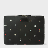 "Paul Smith 'Cufflink Charm' Print 13"" Laptop Sleeve"