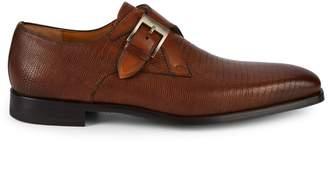 Magnanni Textured Monk-Strap Dress Shoes