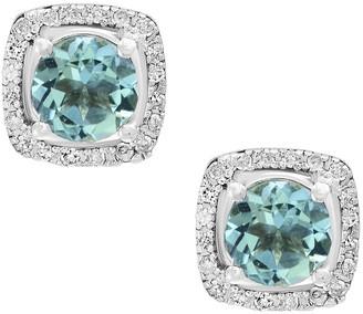 Effy Fine Jewelry 14K 0.88 Ct. Tw. Diamond & Aquamarine Earrings