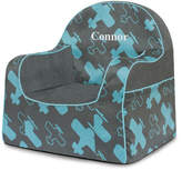 P'kolino Little Reader Planes Personalized Kids Foam Chair with Storage Compartment