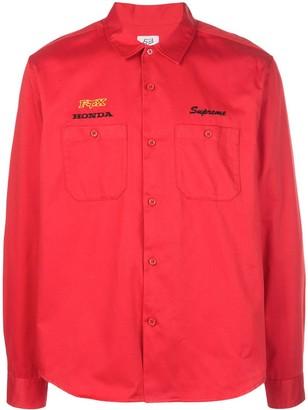Supreme x Honda x Fox Racing Work shirt