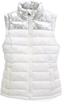Ivory Puffer Vest - Girls