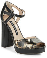 French Connection Dita Textured Platform Pumps
