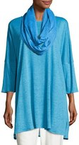 Caroline Rose Linen Knit Easy Tunic, Plus Size