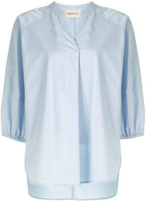 Portspure Drawstring-Waist Tunic Shirt