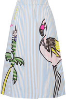 Mira Mikati Printed Cotton-blend Poplin Midi Skirt - FR36