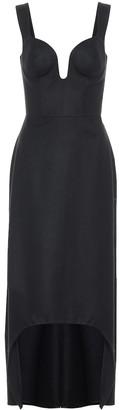 Alexander McQueen Wool flannel midi dress