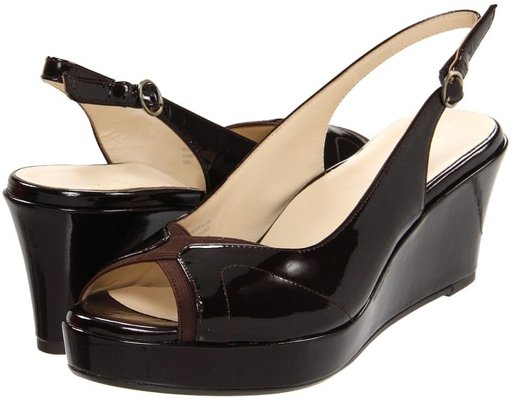Taryn Rose Stacia (Dark Brown Patent) - Footwear