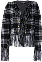 Balmain fringe trim jacket
