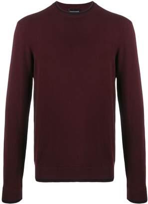 Emporio Armani slim fine knit jumper