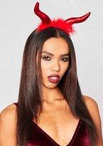 Missy Empire Elvira Red Fluffy Devil Horns Headband