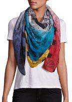 Etro Colored Corner Wool & Silk Scarf