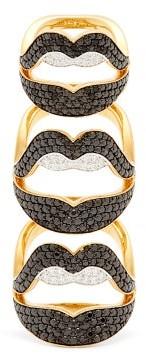 Lynn Ban - Menage A Trois Lab-sapphire & Gold-vermeil Ring - Black