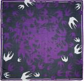 McQ by Alexander McQueen Purple Swallow Swarm Scarf