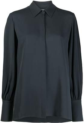The Row Extended Cuff Silk Shirt
