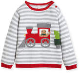 Zubels Boys' Gingerman Train Striped Knit Sweater