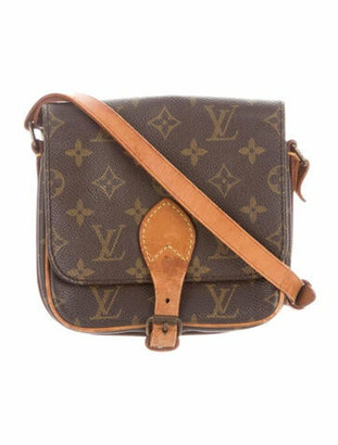 Louis Vuitton Vintage Monogram Cartouchiere PM Brown