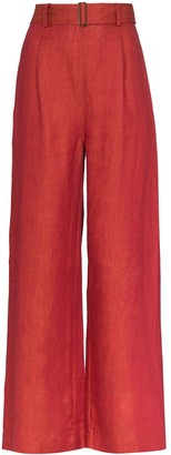 BONDI BORN Wide-Leg Linen Trousers