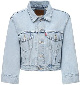 Levi's Cotton Denim Cropped Jacket