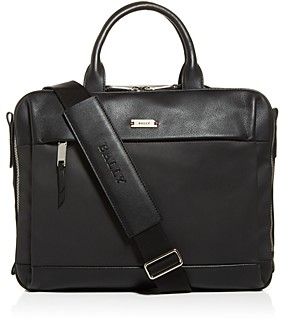 Bally Vaud Nylon & Leather Briefcase