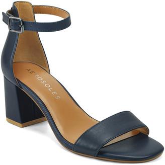 Aerosoles Women's Sandals NAVY - Navy Elba Leather Sandal - Women