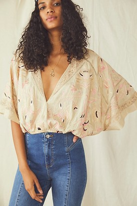 Free People Flora Embroidered Blouse
