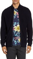 Ted Baker Zip Front Ribbed Cardigan