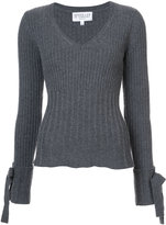 Derek Lam 10 Crosby tie sleeve V-neck sweater