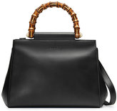 Gucci Nymphaea leather top handle bag - women - Bamboo/Leather/metal/Microfibre - One Size