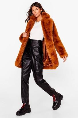 Nasty Gal Womens Surfin' Bird Faux Fur Coat - Beige - S