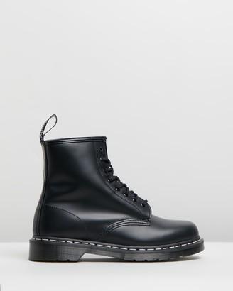 Dr. Martens Unisex 1460 White Stitch 8-Eye Boots