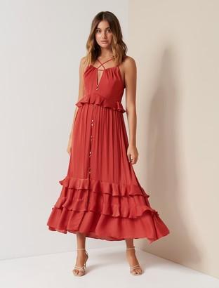 Forever New Morgan Strap Detail Maxi Dress - Paprika - 10