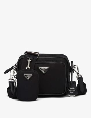 Prada Leather and recycled-nylon cross-body bag