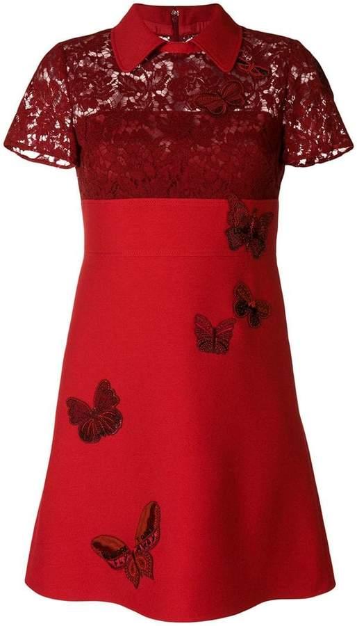Valentino embellished crepe dress