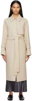 Joseph Beige Wool Double-Felt Cottrell Coat