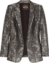 Silk-blend jacquard jacket