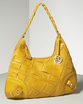 Quilted Leather Hobo Bag
