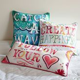 PBteen Watercolor Sentiment Pillow Cover
