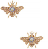 Betsey Johnson Queen Bee Stud Earrings