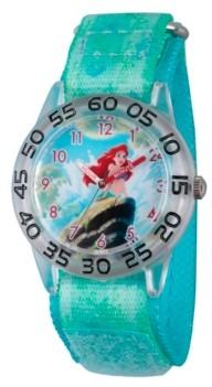 EWatchFactory Disney Princess Ariel Girls' Clear Plastic Time Teacher Watch