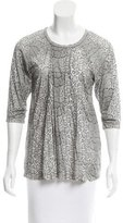 Yigal Azrouel Three-Quarter Sleeve Printed Top