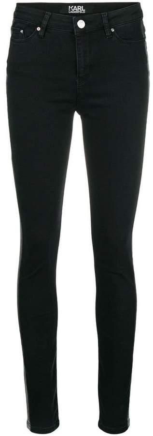 Karl Lagerfeld Paris skinny tuxedo stripe jeans