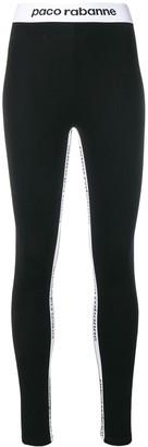 Paco Rabanne Logo Band Leggings