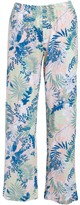 Fresh Produce Women's Capris pink - Pink & Blue Floral Tropic Capri Pants - Women