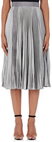 Christopher Kane Women's Satin Accordion-Pleated Midi-Skirt-GREY