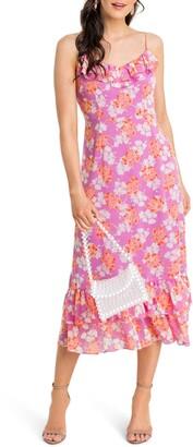 ALL IN FAVOR Ruffle Cami Midi Dress