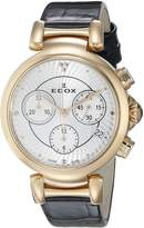 Edox Women's 10220 37RC Air LaPassion Analog Display Swiss Quartz Black Watch