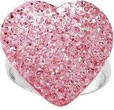 Body Candy Light Pink Sparkler Heart Adjustable Ring